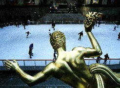 Ice-Skating at The Rockefeller Center - by Phil Raby.