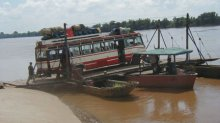 Travel by bus in Laos